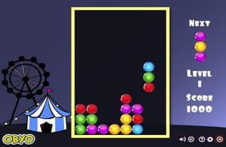Онлайн игра Тетрис-шарики